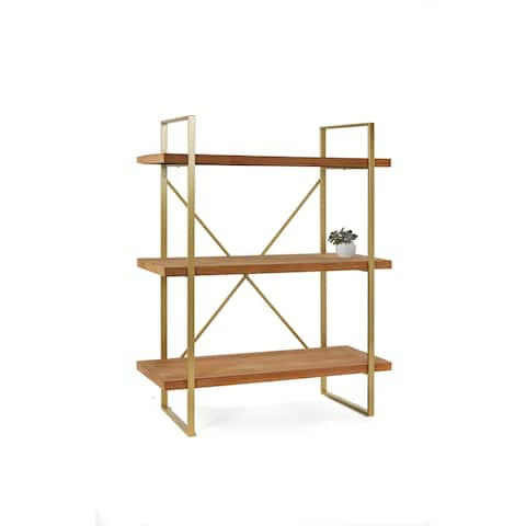 Statements by J Emma Etagere Wooden Bookcase with 3 Shelves, 47 Inch Tall