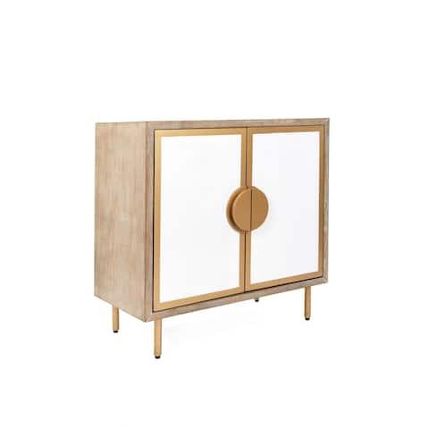 Statements by J Positano Modern Accent Wooden Storage Cabinet, 31.25 Inch Tall