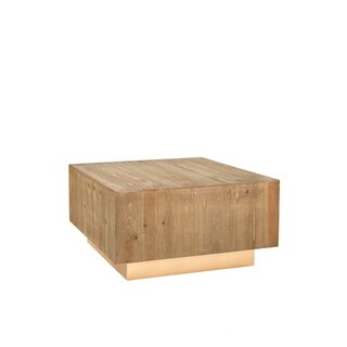 Statements By J Leo Wood Square Coffee Table, 31.5 Inch Long