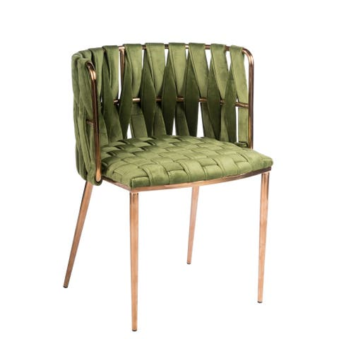 Statements by J Milano Counter Green Velvet Chair, 35 Inch Tall