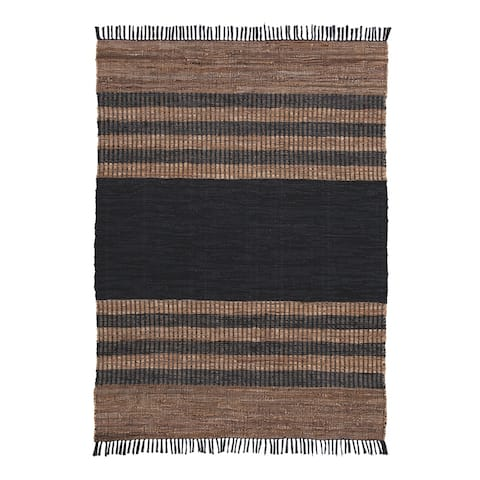 Zoran Leather Strip Medium Rug