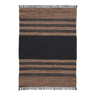 Zoran Leather Strip Medium Rug - N/A