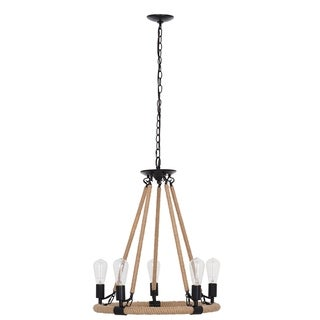 "Link to Catalina Lighting 5-Light Chandelier with Rope Accent, LED Bulbs Included, 27.50"", 22307-000 - N/A Similar Items in Table Lamps"