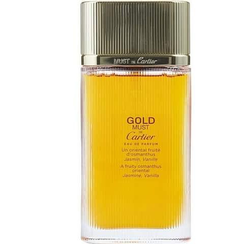 Must De Cartier Gold for Women by Cartier Eau De Parfum Spray Tester 3.3 Oz