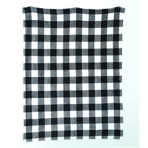 "48"" X 60"" Super-soft Fleece Blanket - Buffalo Check"
