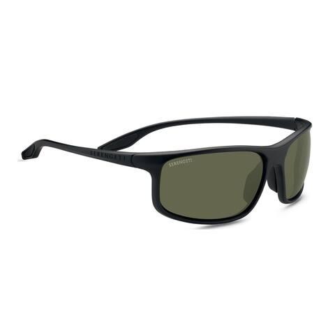 Serengeti Levanzo 61mm Polarized Wrap-Around Sunglasses (Matte Black) - Medium