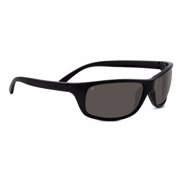 Serengeti Bormio 62mm Polarized CPG Wrap-Around Sunglasses (Black) - Medium