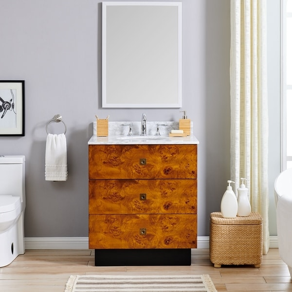 Holly & Martin Betlow Marble 30-inch Single Vanity Sink