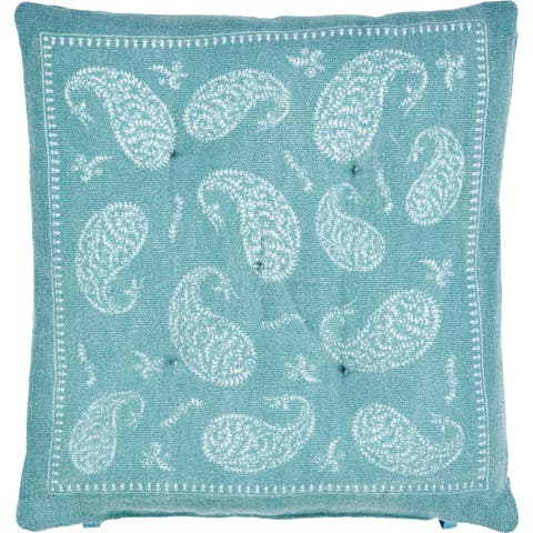 Bordered Paisley Chair Cushion