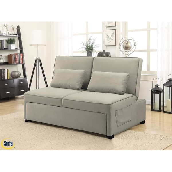 Remarkable Shop Serta Torrance Convertible Microfiber Sofa On Sale Pabps2019 Chair Design Images Pabps2019Com