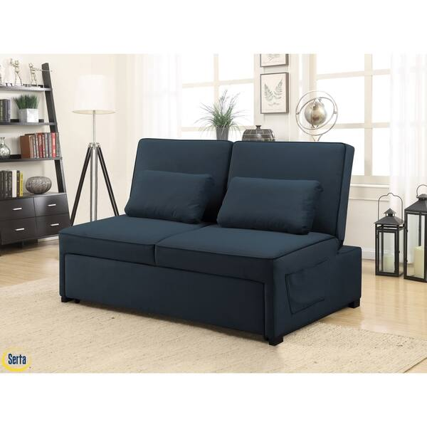 Fantastic Shop Serta Torrance Convertible Microfiber Sofa On Sale Ibusinesslaw Wood Chair Design Ideas Ibusinesslaworg