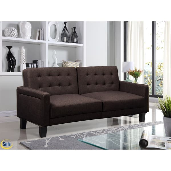 Shop Serta® Omaha Convertible Sofa - On Sale - Free Shipping ...