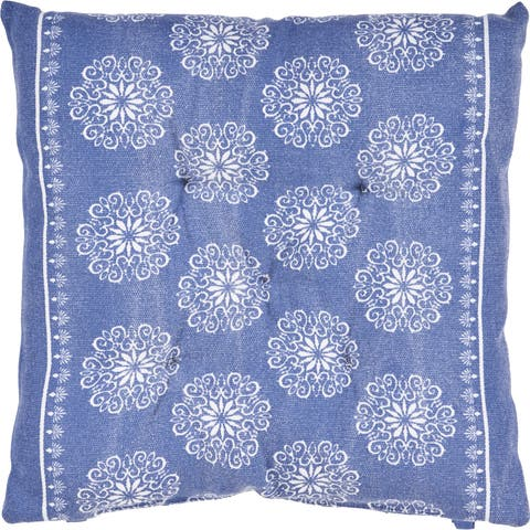 Intricate Floral Chair Cushion