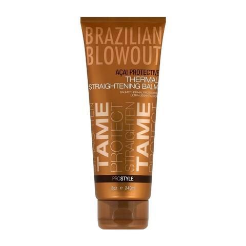 Brazilian Blowout Acai Protective Thermal Straightening Balm, 8 Oz