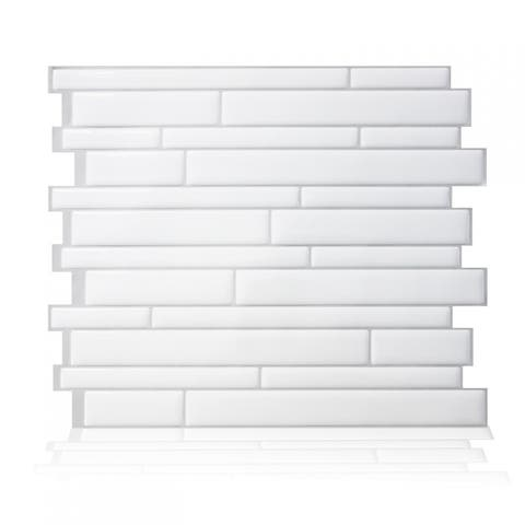 Milano Blanco Peel and Stick Mosaic Backsplash (4-Pack)
