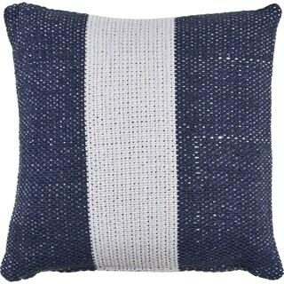 Navy Indigo and White Stripe Throw Pillow