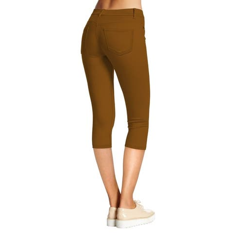 Hybrid & Company Women's Hyper Stretch Denim Capri Jeans
