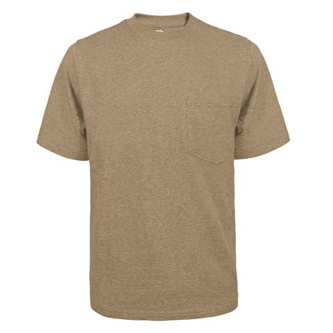 Victory Outfitters Men's Fortified Cotton Extra Length Single Pocket Crewneck T-Shirts