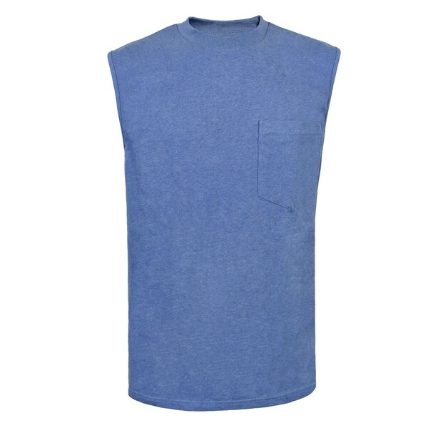 Victory Outfitters Mens Fortified Cotton Extra Length Single Pocket Sleeveless Tee