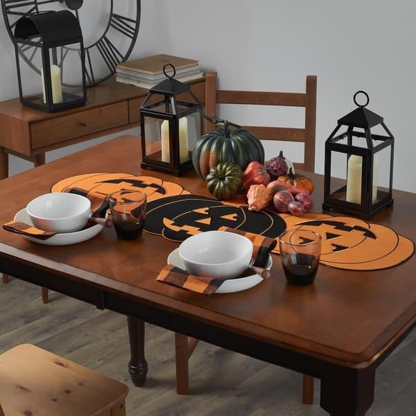 Shop Farmhouse Living Jack O Lantern Pumpkin Centerpiece Table