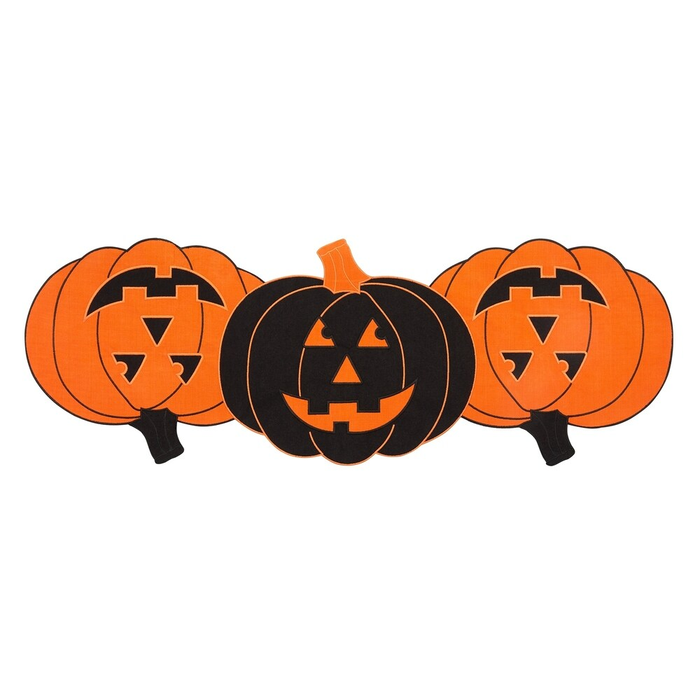 Burlap And Check Pumpkin Centerpiece Runner 13 X36 Black White Shefinds
