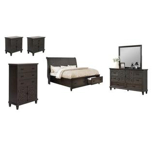 Best Quality Furniture Sleigh 6-Piece Bedroom Set