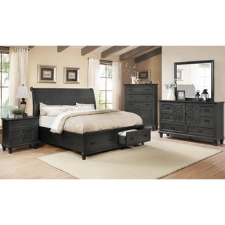 Best Quality Furniture Sleigh 4-Piece Bedroom Set with Extra Chest