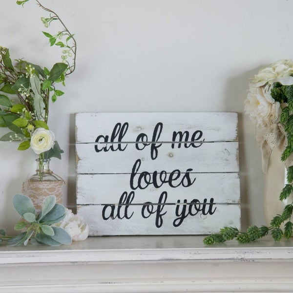 """Wooden sign """"All of me"""""""
