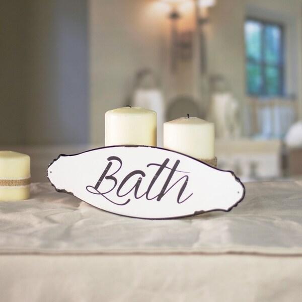 "Metal sign ""Bath"""