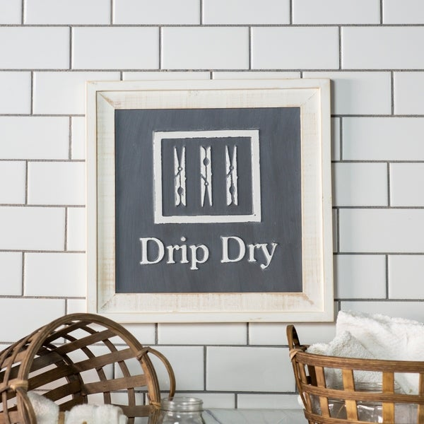 """Wooden sign """"Drip dry"""""""