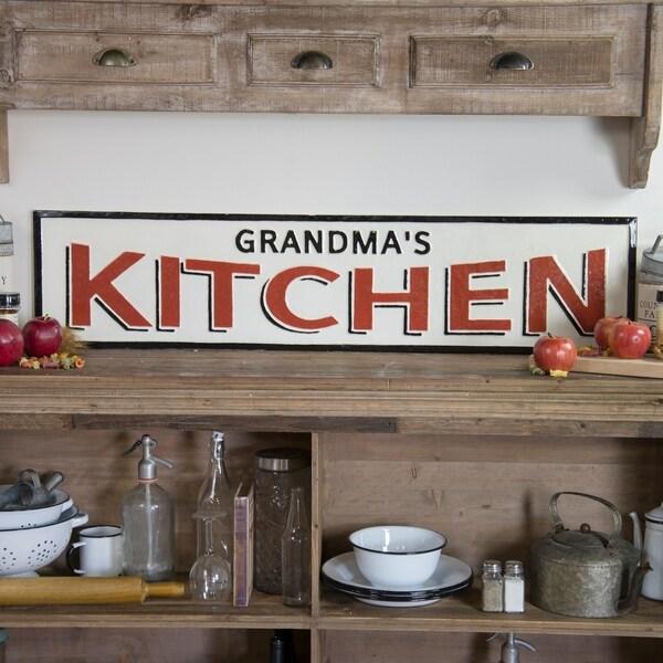 "Metal sign ""Grandma's Kitchen"""