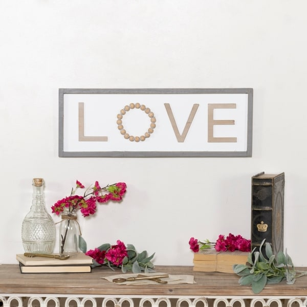 """Wooden sign """"Love"""""""