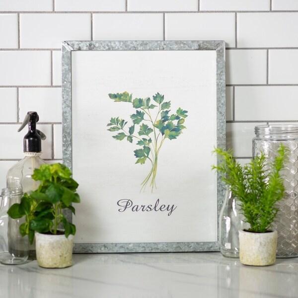 """Metal framed sign """"Parsley"""""""