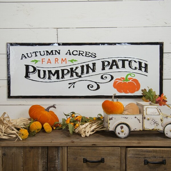 "Metal sign ""Pumpkin patch"""