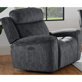 Kagan Shadow  Power Headrest, Footrest and Lumbar Glider Recliner
