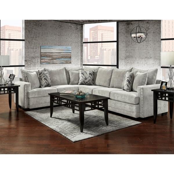 Sofa Trendz Badra Silver Sectional