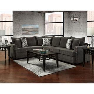 Sofa Trendz Bertrand Charcoal Sectional