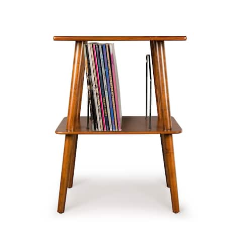 """Manchester Turntable Stand - Mahogany - 18.13""""W x 13.5""""D x 25.5""""H"""