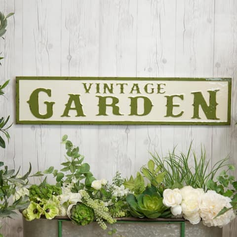 "Metal sign ""Vintage Garden"""