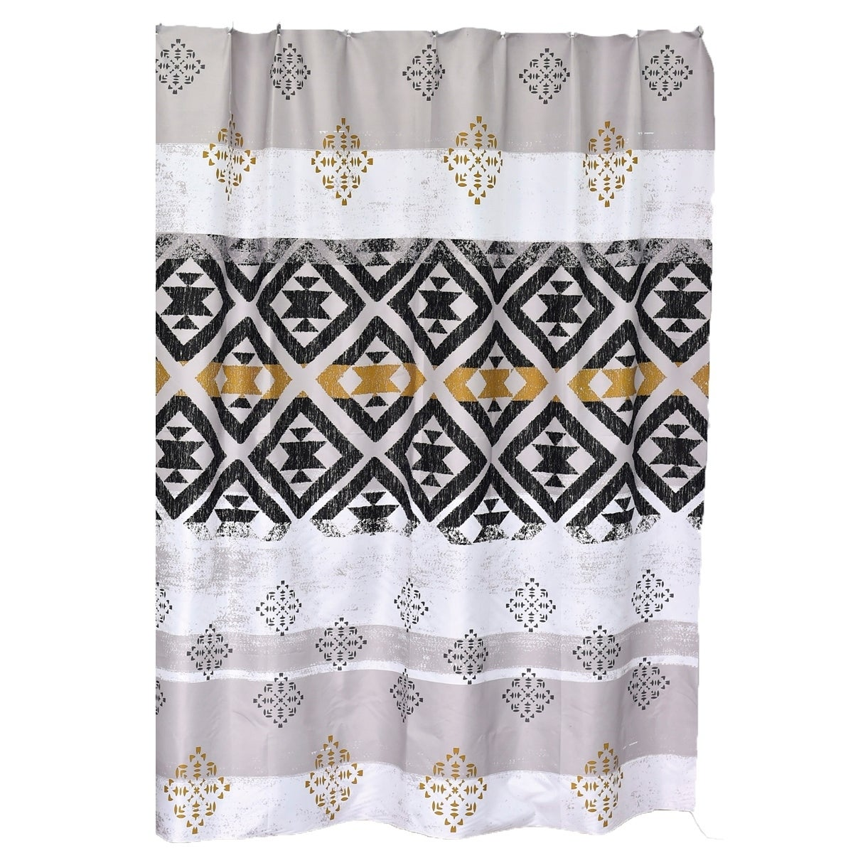Kenya Printed Polyester Fabric Shower Curtain 71 W X 79 H