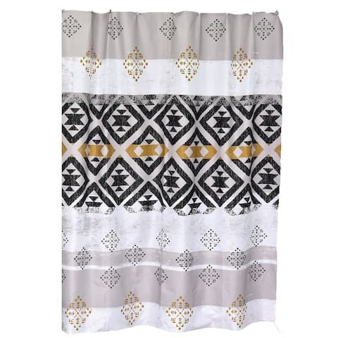 "Kenya Printed Polyester Fabric Shower Curtain 71""W x 79""H"