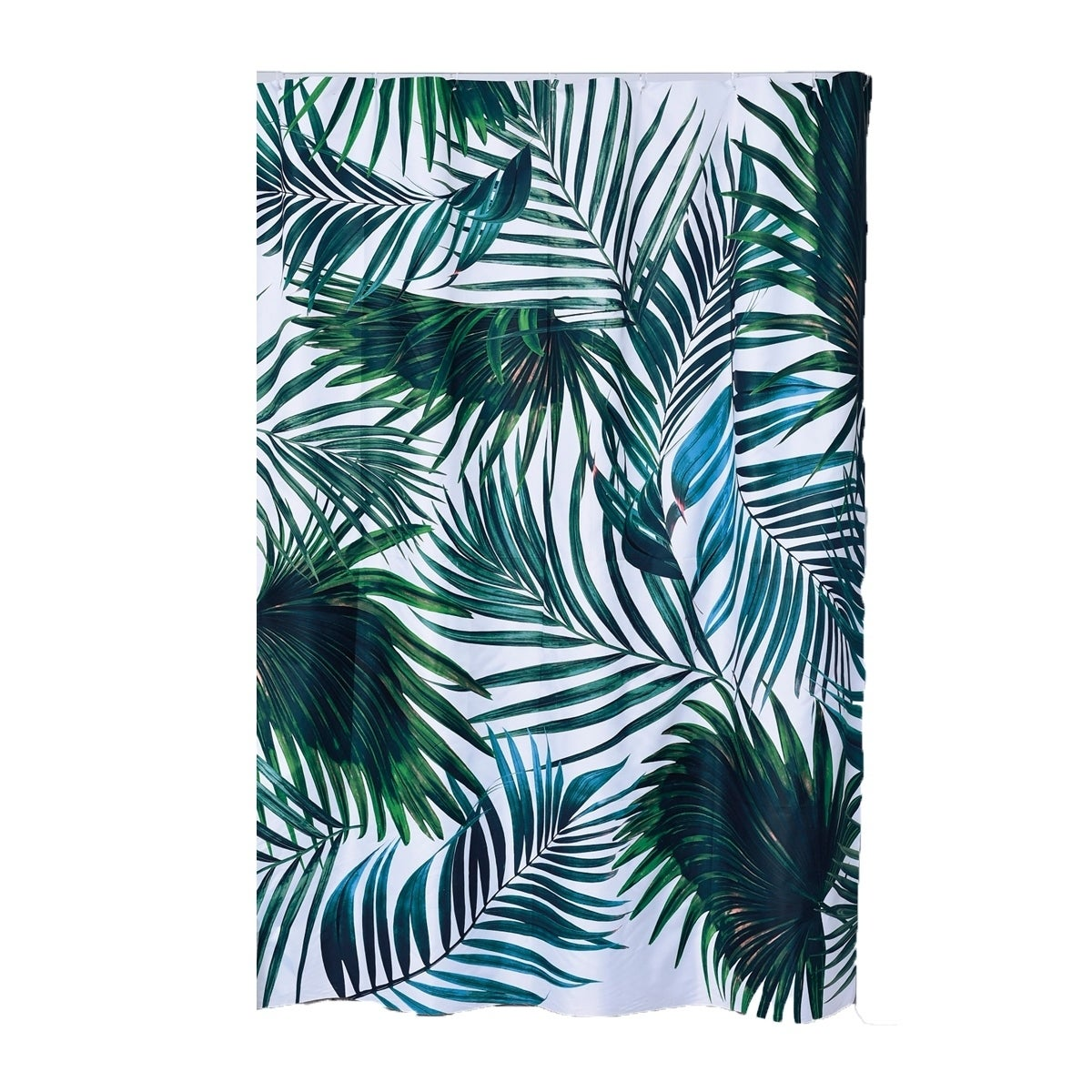 Tropical Printed Polyester Fabric Shower Curtain 71 W X 79 H