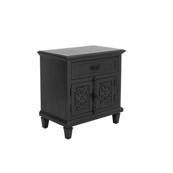 Best Quality Furniture Sleigh Nightstand Only
