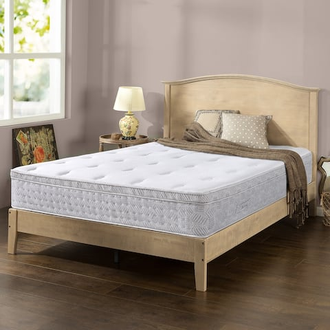 "Priage by Zinus - Italian-Made 12"" Hybrid Spring Pressure Relief Mattress"
