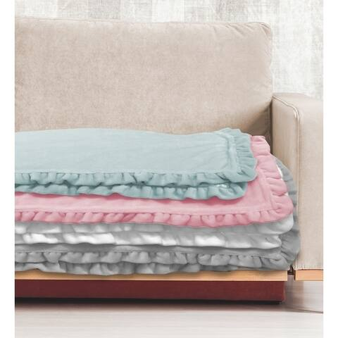 Shabby Chic Emma Royal Plush Throw Blanket