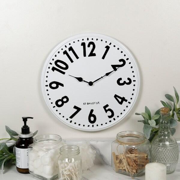 """Metal/ Wood clock 32"""""""