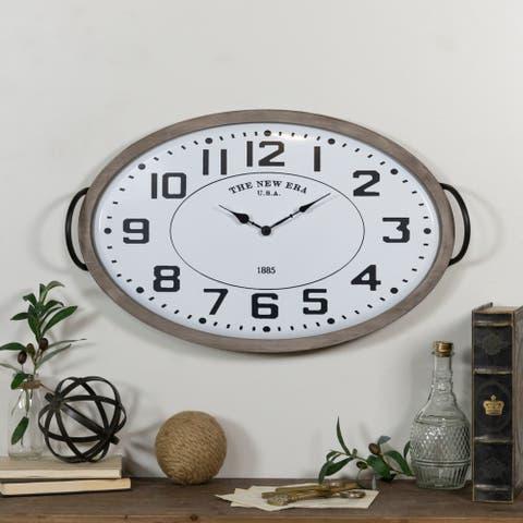 Metal pan clock