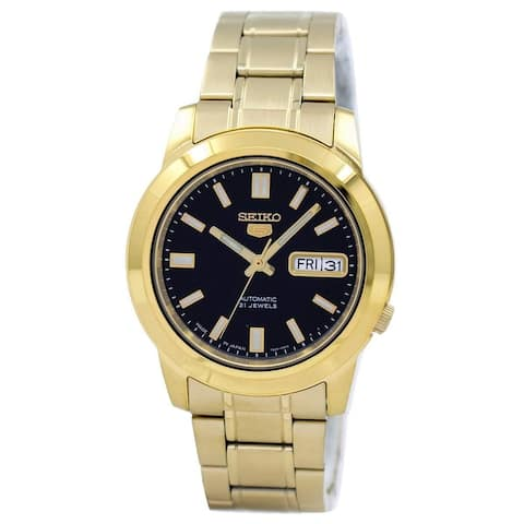Seiko Men's SNKK22J1 Seiko 5 Gold-Tone Stainless Steel Watch