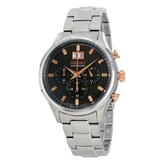 Link to Seiko Men's SPC151 Chronograph Chronograph Stainless Steel Watch Similar Items in Men's Watches