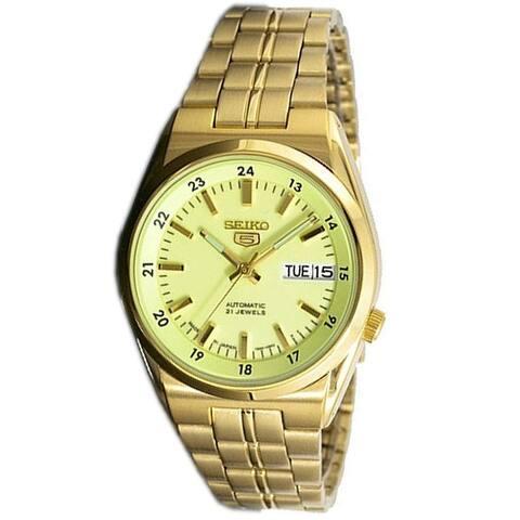 Seiko Men's SNK578J1 Seiko 5 Gold-Tone Stainless Steel Watch